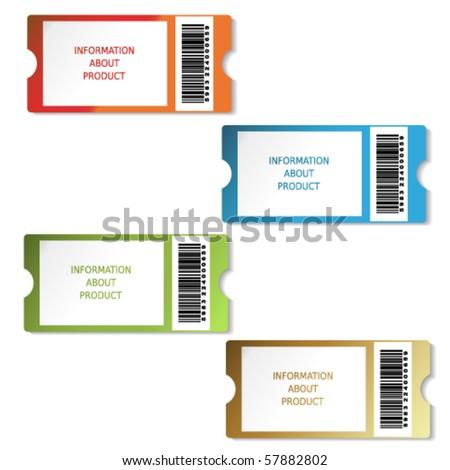 Vector tickets - stock vector