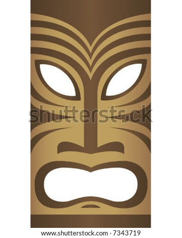 Vector Tiki Mask - stock vector