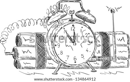 vector - time bomb , isolated on background