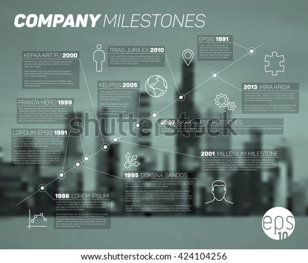Vector time line Infographic diagonal  report  template.  - stock vector