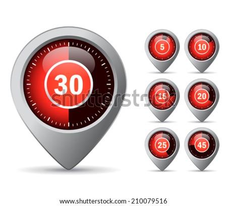 Vector timer icon - stock vector