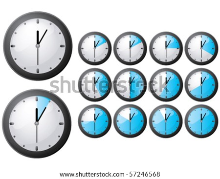 Vector timer icon, EPS 10 - stock vector