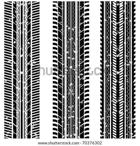 Vector tire tracks - stock vector