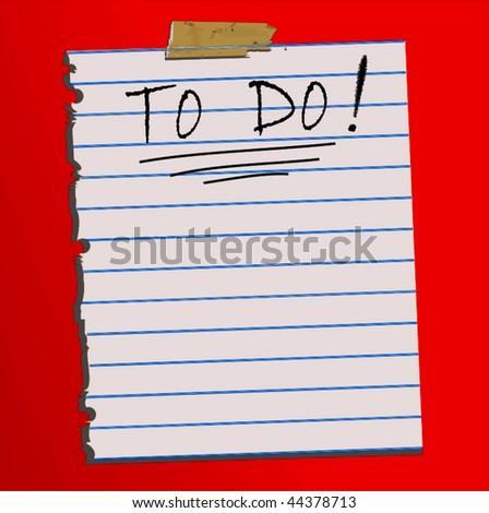Vector To Do Paper - stock vector