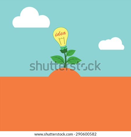 Vector to express their creativity by a tree as a symbol of success and ideas. - stock vector