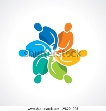 Vector togetherness concept illustration. - stock vector