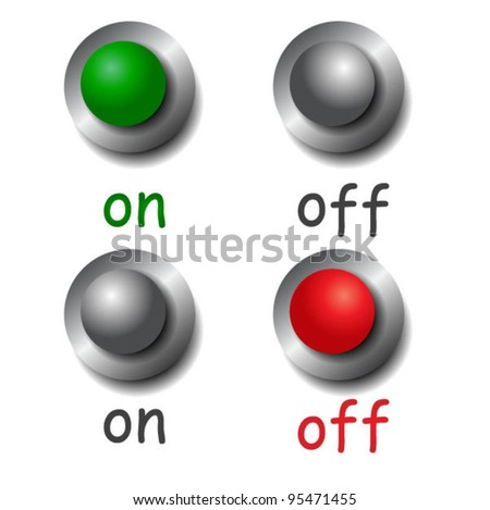 Vector toggle switches - stock vector
