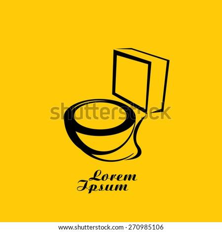 vector Toilet symbol. toilet sign (toilet bowl) - stock vector