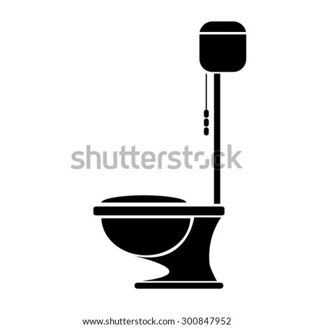 vector Toilet symbol. toilet sign (toilet bowl)
