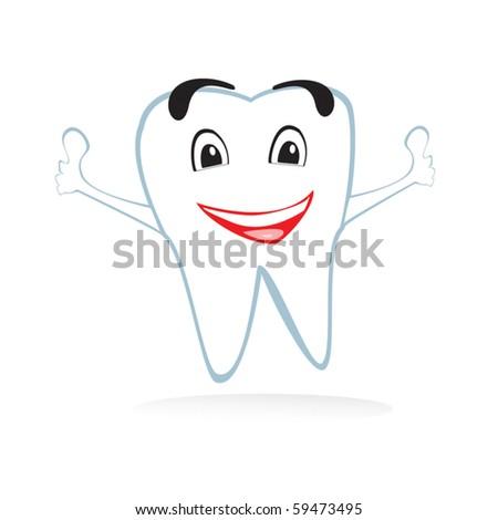 Vector tooth - stock vector