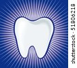 Vector tooth illustration - stock photo