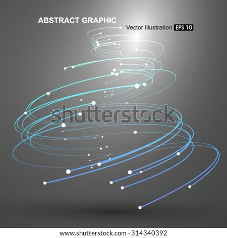 Vector Tornado,Abstract graphics. - stock vector