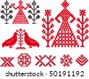vector traditional baltic weaving designs - stock vector
