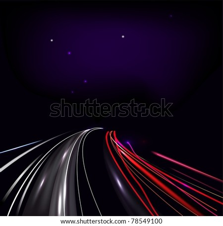 Vector traffic and street lights - stock vector