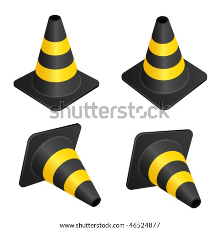 vector traffic cones