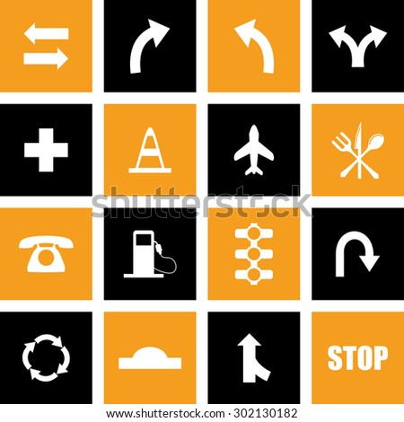 Vector Traffic Icons For Web & Mobile. Eps-10.