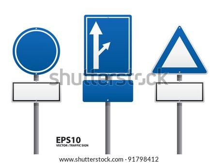vector traffic sign - stock vector