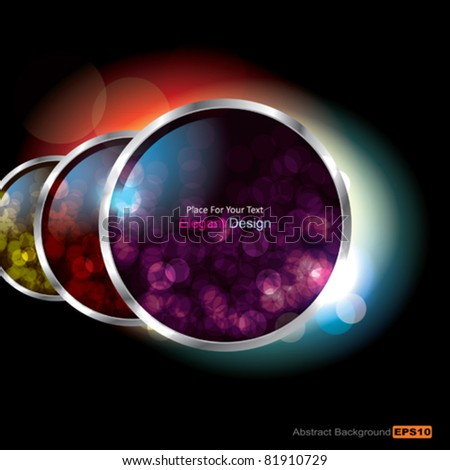 Vector Translucent Glass Speech Bubbles - stock vector