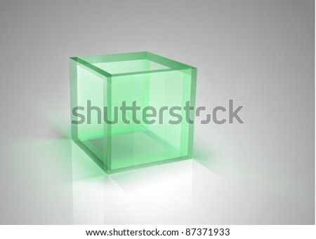 vector transparent box - stock vector