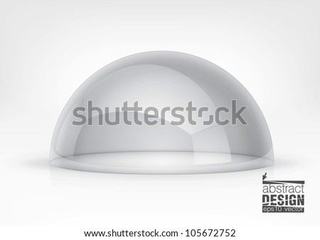 Vector transparent semi-sphere specks of light and reflections, you can change colors for the background - stock vector