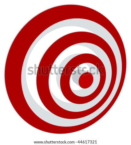Vector transparent target illustration. Put this target on your image - stock vector
