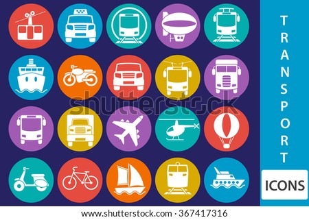 Vector transport icons - stock vector