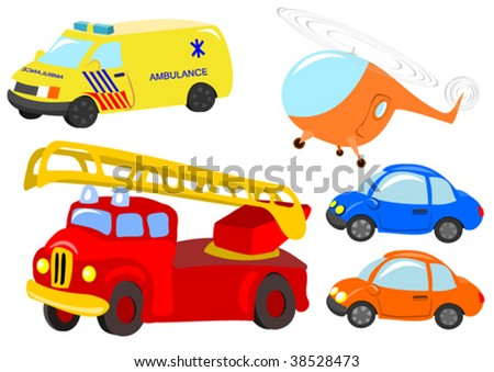vector transport set - stock vector