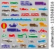 Vector. 40 transportation icons. - stock photo