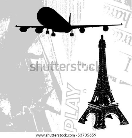 vector travel - stock vector