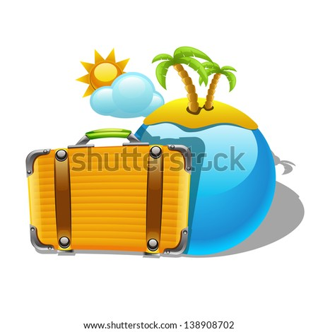 Vector travel illustration - stock vector