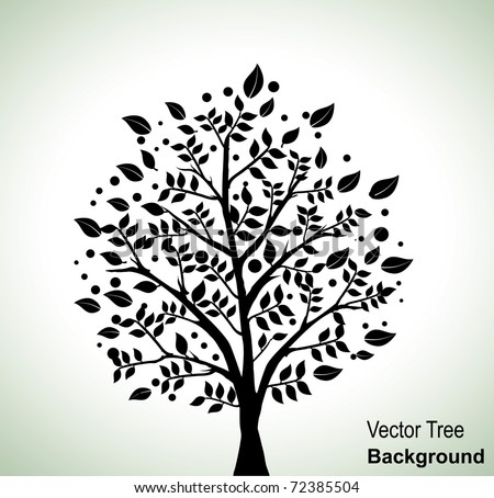 Vector tree silhouette - stock vector