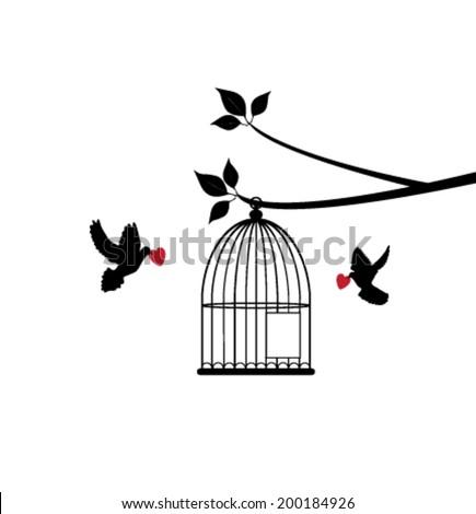 Bird Cage Open Door Stock Photos Images Amp Pictures