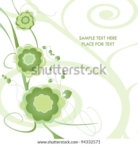 Vector tree stylized with flowers - stock vector