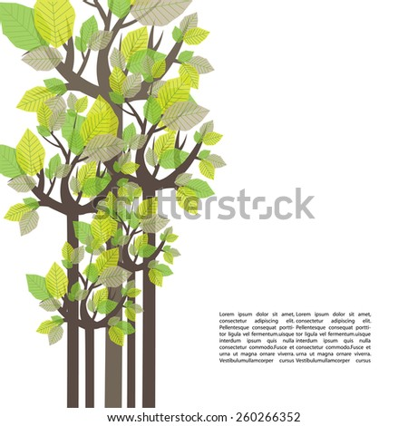 Vector tree template