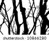 vector tree with white background - stock vector