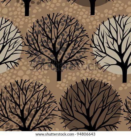 vector trees seamless pattern - stock vector