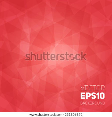 Vector trendy and modern abstract polygonal geometric background. Bright triangular ruby texture. Polygonal backdrop with empty space for your text - stock vector