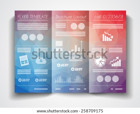 Vector Tri Fold Brochure Template Design Stock Vector 258709175