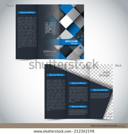 vector tri folder brochure leaflet mock stock vector 212362198