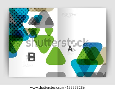 Two A4 Size Geometric Elements Annual Stock Vector 446598433