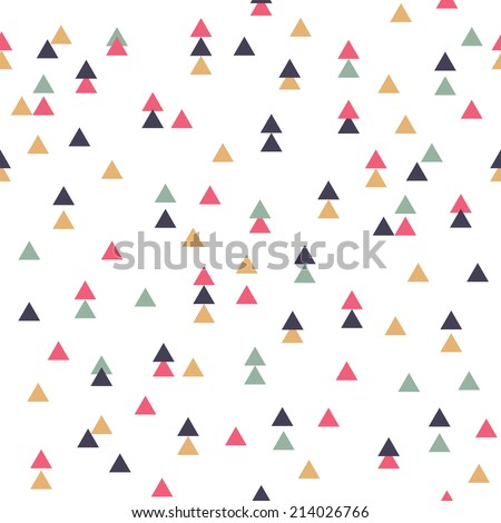 Vector tribal inspired seamless geometric pattern with triangles - stock vector