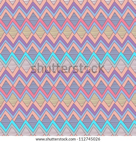 Vector tribal seamless texture