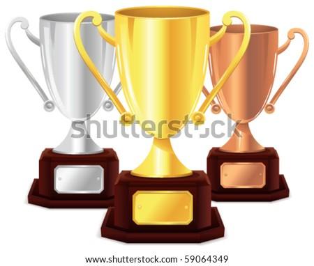 Vector trophy - stock vector