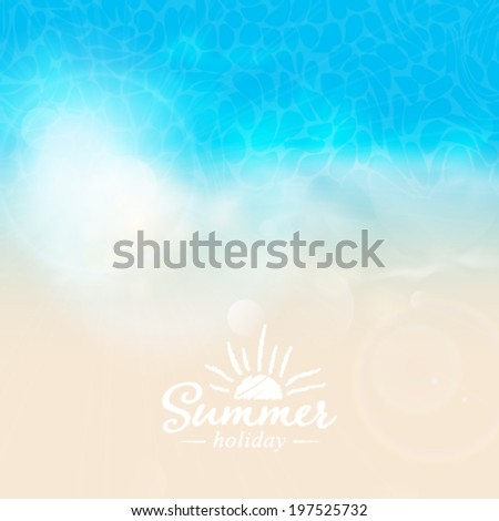 Vector tropical sea background illustration. - stock vector