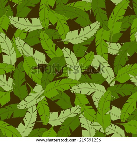 Vector tropical seamless nature pattern.Summer pattern with banana leaves. Endless background. Vector nature backdrop. Tropical template.Exotic leaves pattern. - stock vector