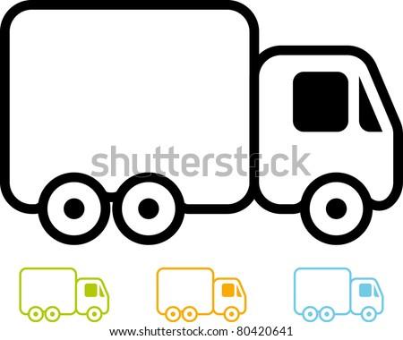 Vector truck icon - stock vector