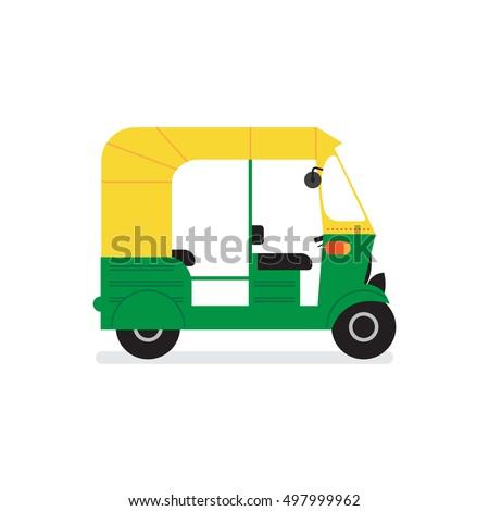 Vector Tuktuk Indian Auto Rickshaw Concept Stock Vector ...