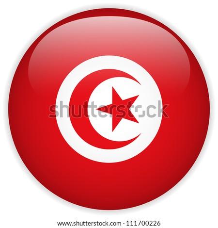 Vector - Turkey Flag Glossy Button - stock vector