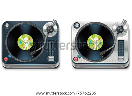 Vector turntable XXL icon - stock vector