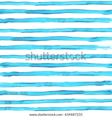 vector turquoise blue watercolor striped texture stock